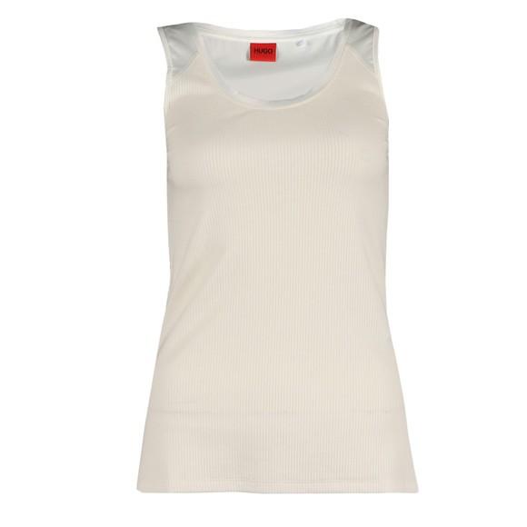 HUGO Womens Off-White Demirina Top