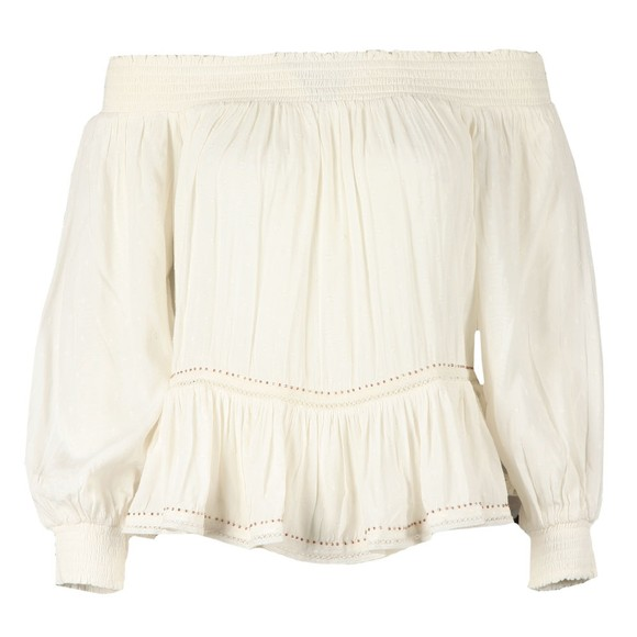 Superdry Womens White Ameera Off Shoulder Top