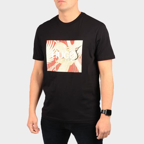 HUGO Mens Black Dolive U213 T Shirt