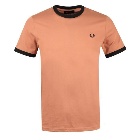 Fred Perry Mens Orange Ringer T-Shirt main image