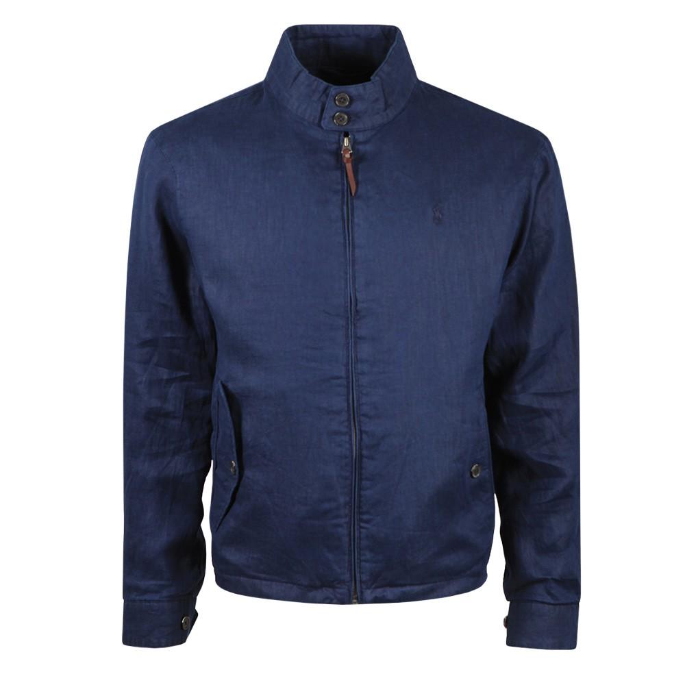Linen Mockneck Jacket
