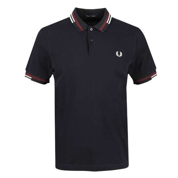 Fred Perry Mens Blue Abstract Tipped Polo Shirt main image