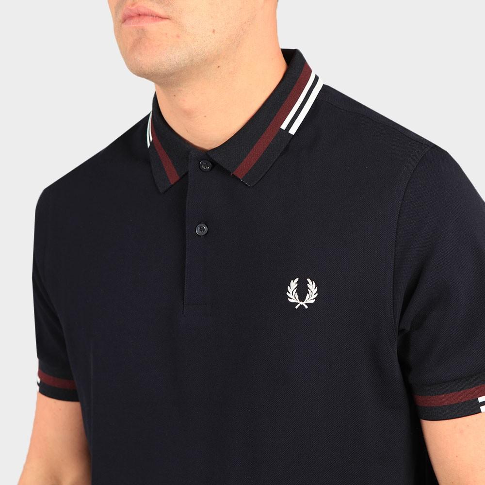 Abstract Tipped Polo Shirt main image