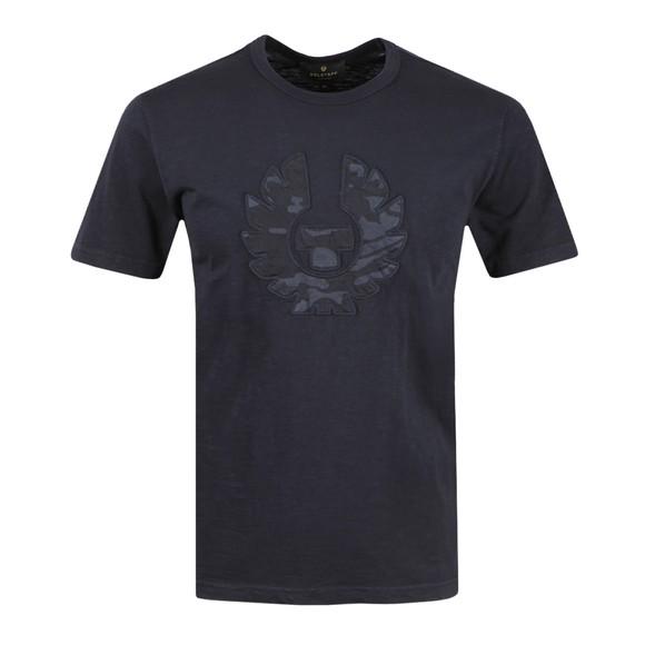 Belstaff Mens Blue Applique Camo T Shirt