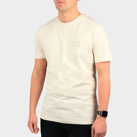 BOSS Mens Beige Casual Tales T Shirt