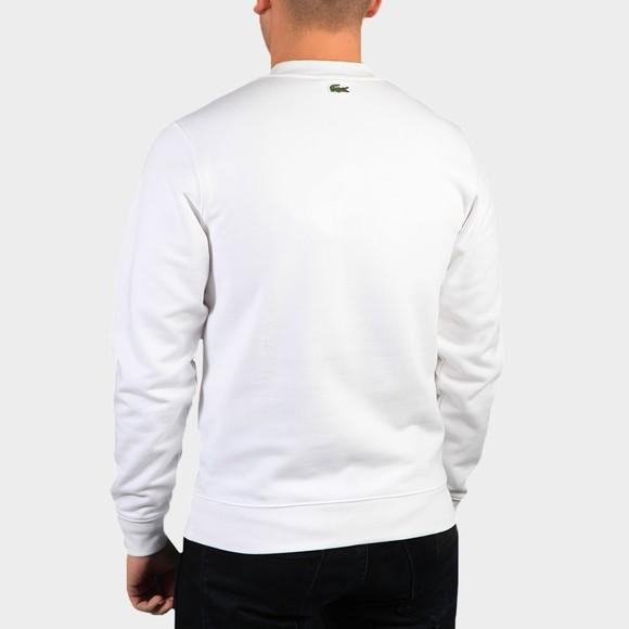Lacoste Mens White SH0053 Embroidered Croc Sweatshirt main image