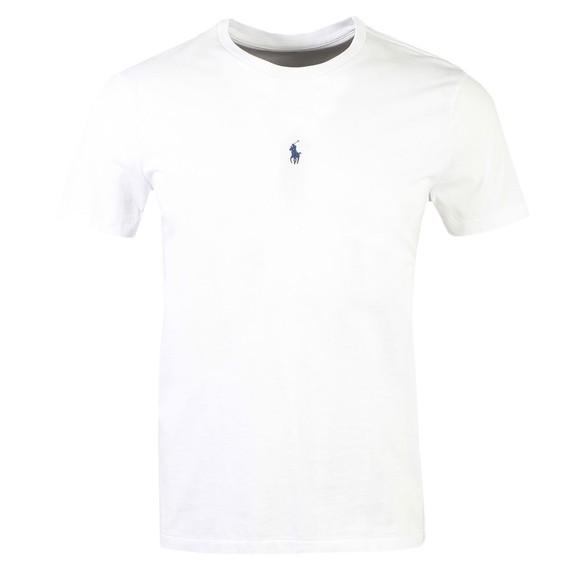 Polo Ralph Lauren Mens White Slim Fit Centre Logo T Shirt
