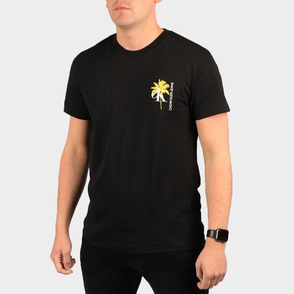 Calvin Klein Jeans Mens Black Palm Print T-Shirt