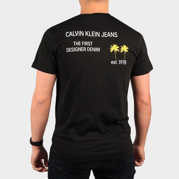 Calvin Klein Jeans Mens Black Palm Print T-Shirt main image
