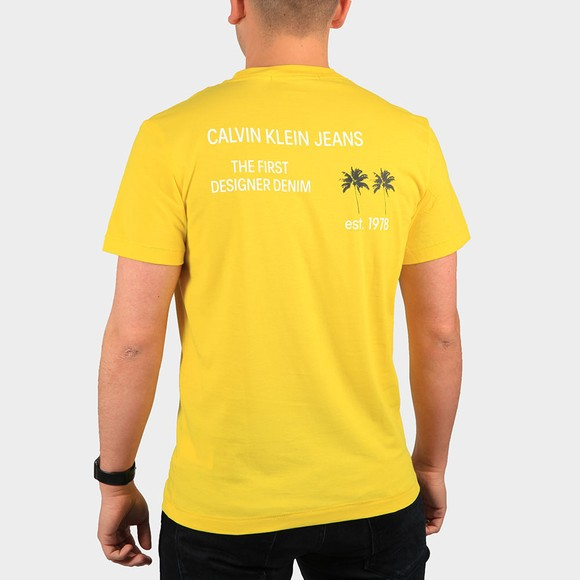 Calvin Klein Jeans Mens Yellow Palm Print T-Shirt main image