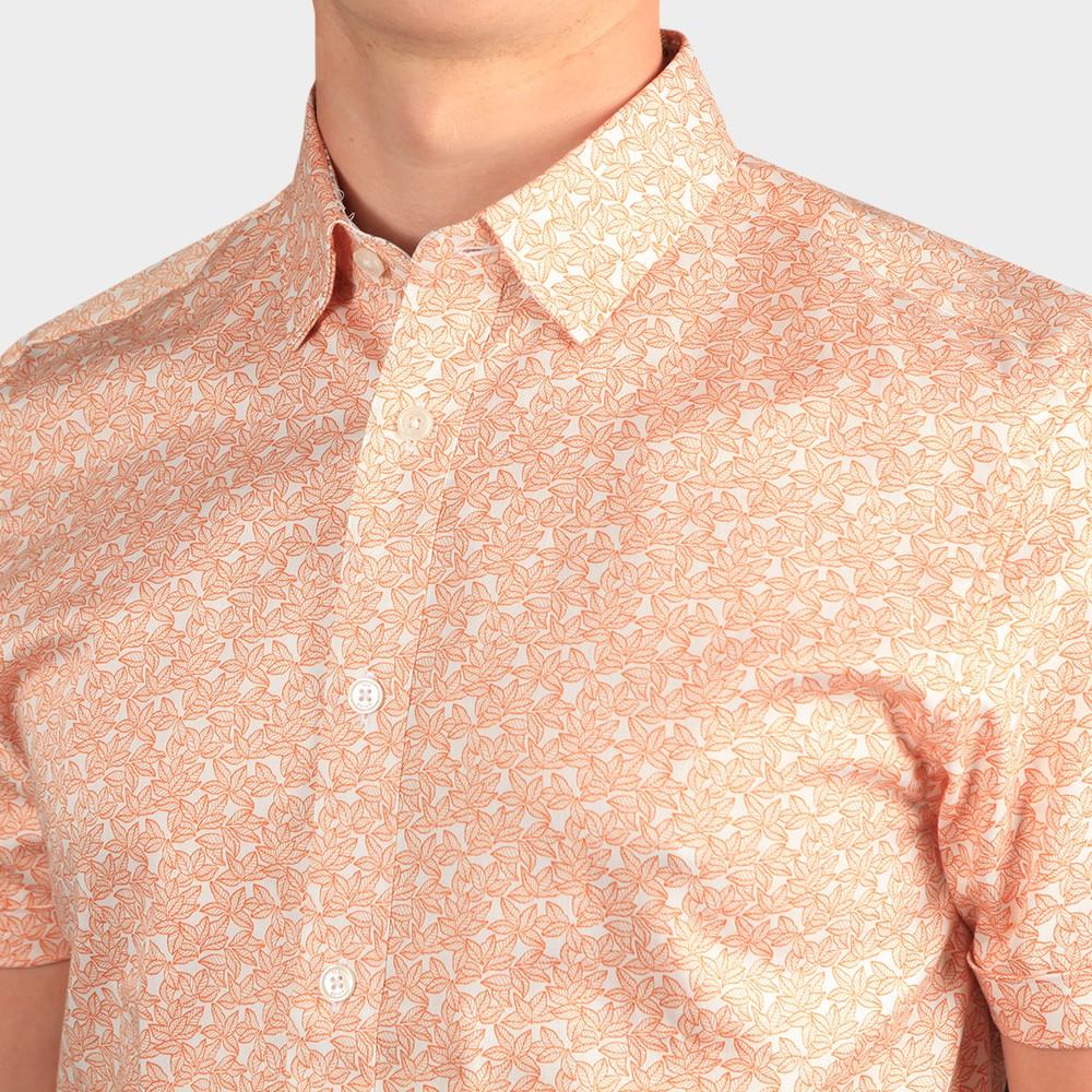 Mybow Mini Leaf Print SS Shirt main image