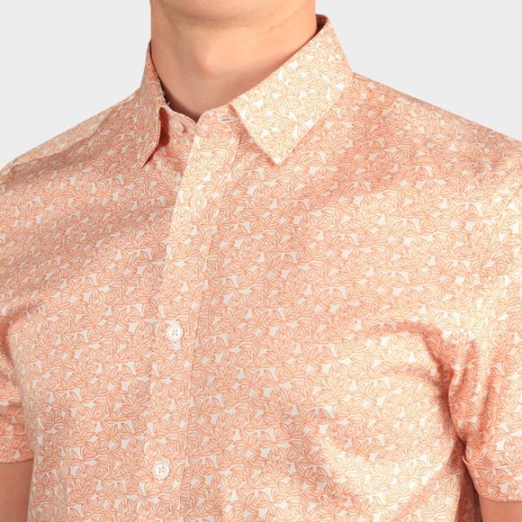 Ted Baker Mens Orange Mybow Mini Leaf Print SS Shirt main image