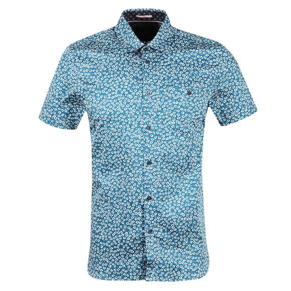 Ted Baker Mens Blue Parslee SS Flower Print Shirt
