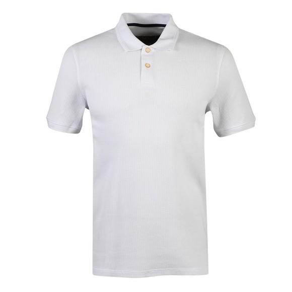 Ted Baker Mens White Fushon Waffle Textured Polo Shirt