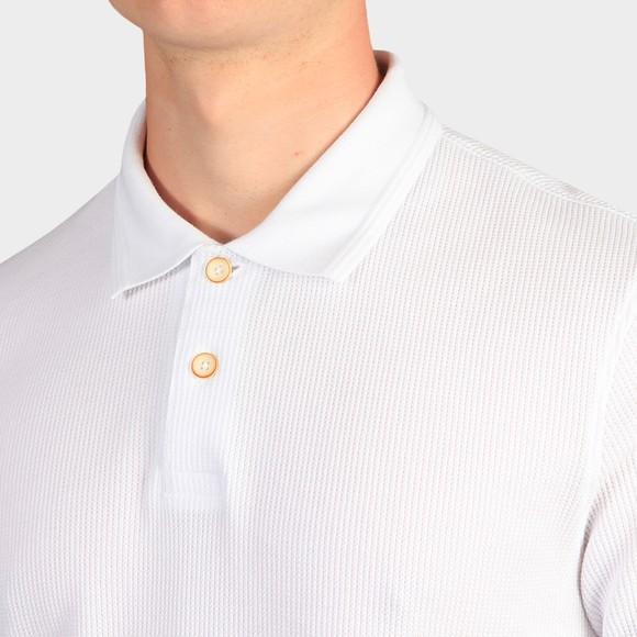 Ted Baker Mens White Fushon Waffle Textured Polo Shirt main image