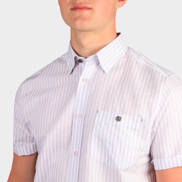 Ted Baker Mens Purple Tanas SS Stripe Shirt main image