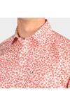 Ted Baker Mens Red Parslee SS Flower Print Shirt