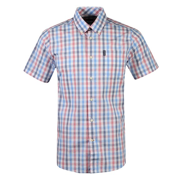 Barbour Lifestyle Mens Red S/S Tattersall 14 Shirt