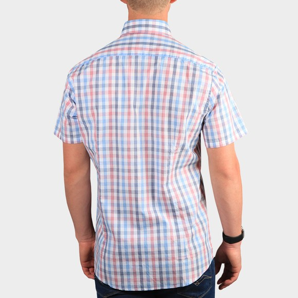 Barbour Lifestyle Mens Red S/S Tattersall 14 Shirt main image