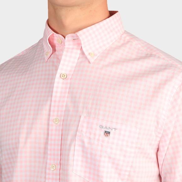 Gant Mens Pink Broadcloth Gingham Shirt main image