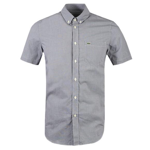 Lacoste Mens Blue CH2879 Micro Check SS Shirt