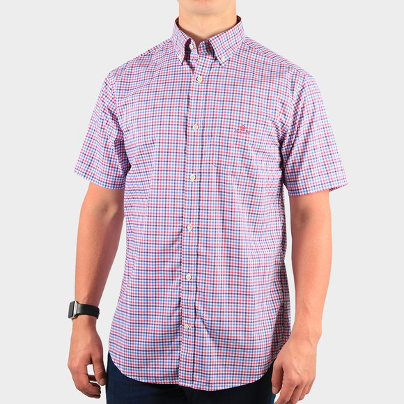 Gant Mens Pink S/S 3 Colour Gingham Shirt