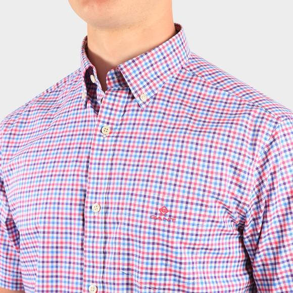 Gant Mens Pink S/S 3 Colour Gingham Shirt main image