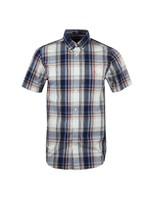 Regular Washed Indigo Plaid Shirt