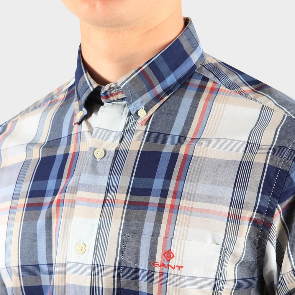 Regular Washed Indigo Plaid Shirt main image