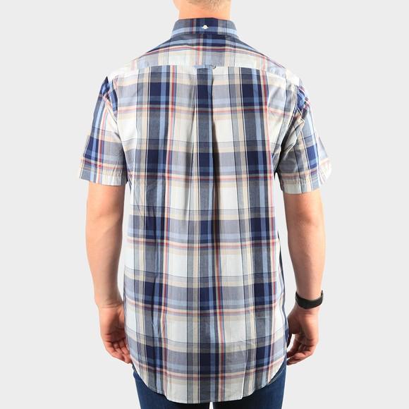 Gant Mens Beige Regular Washed Indigo Plaid Shirt main image