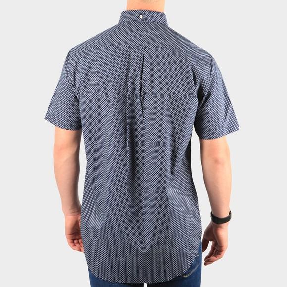 Gant Mens Blue Regular Micro Dot Short Sleeve Shirt main image