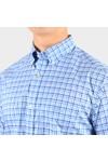 Gant Mens Blue S/S 3 Colour Gingham Shirt