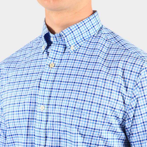 Gant Mens Blue S/S 3 Colour Gingham Shirt main image