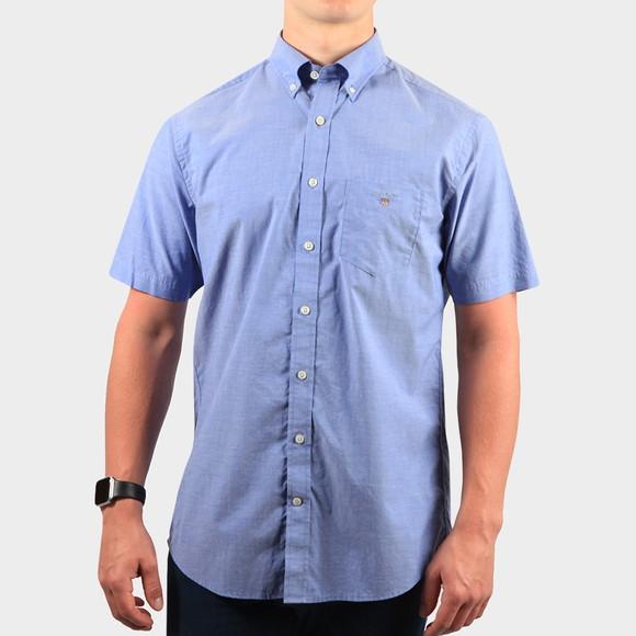 Gant Mens Blue Broadcloth S/S Shirt main image
