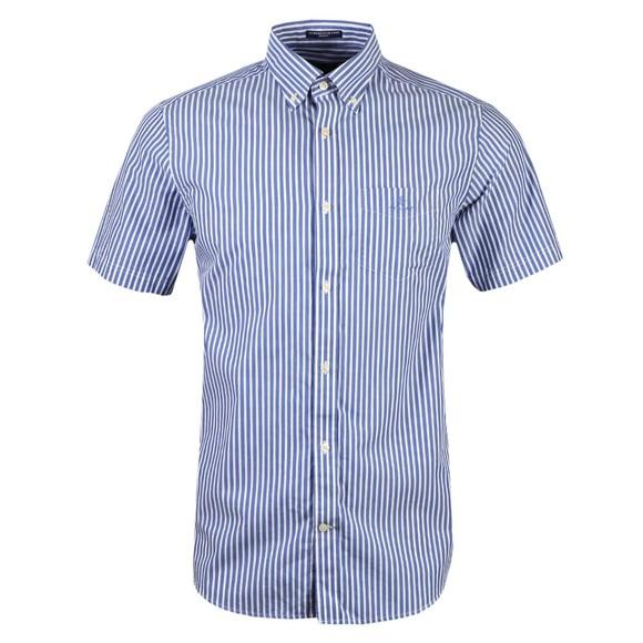 Gant Mens Blue Broadcloth Stripe Regular Shirt