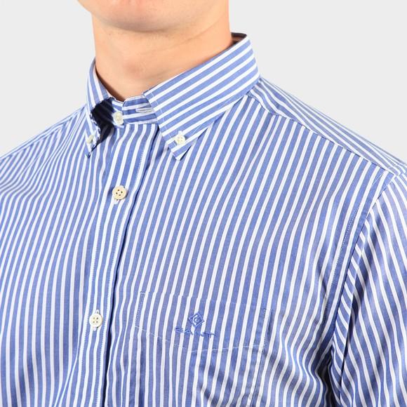 Gant Mens Blue Broadcloth Stripe Regular Shirt main image