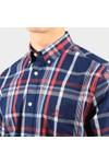 Gant Mens Blue Regular Washed Indigo Plaid Shirt