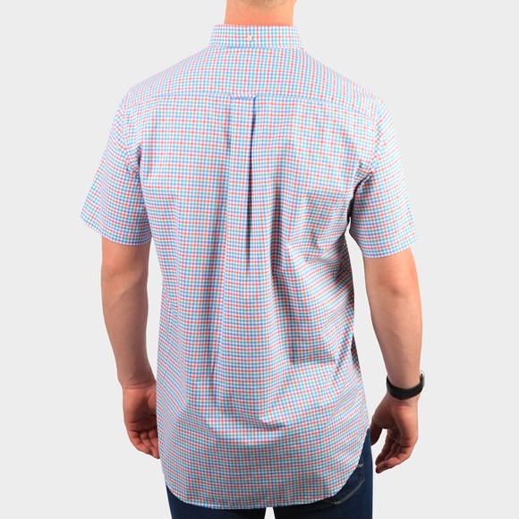 Gant Mens Green S/S 3 Colour Gingham Shirt main image
