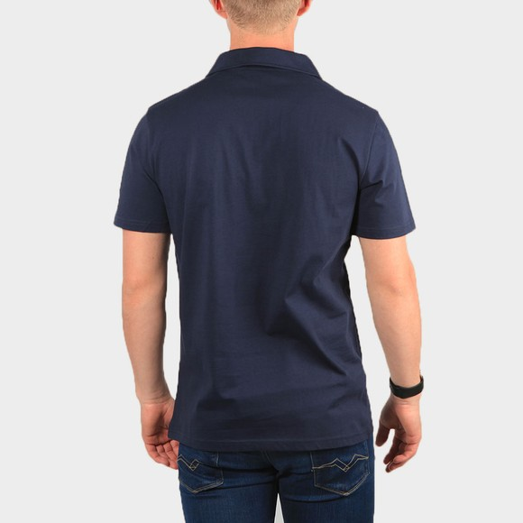 Terrace Cult Mens Blue 1/2 Zip Polo Shirt main image