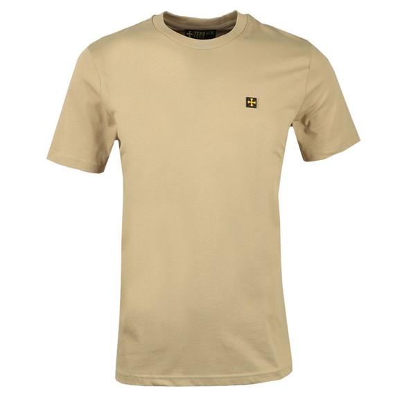 Terrace Cult Mens Beige Crew Neck T-Shirt
