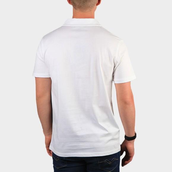 Terrace Cult Mens White 1/2 Zip Polo Shirt main image