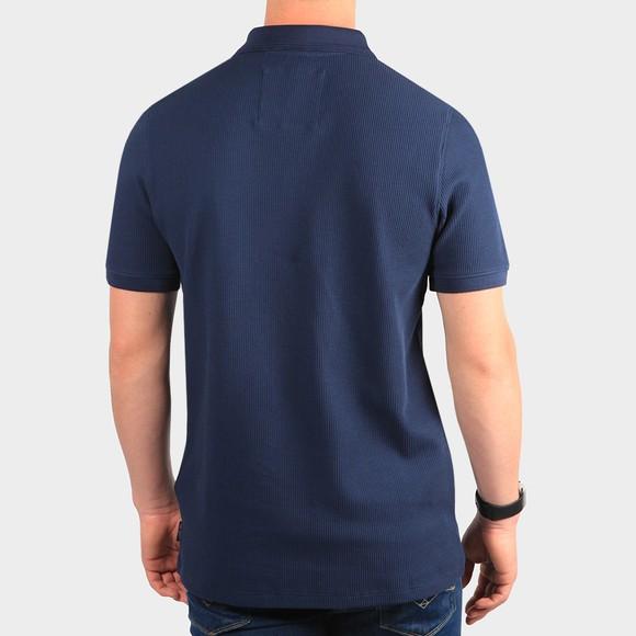 Ted Baker Mens Blue Fushon Waffle Textured Polo Shirt main image