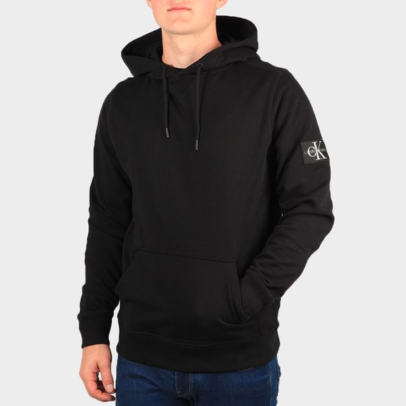 Calvin Klein Jeans Mens Black Sleeve Badge Hoodie main image