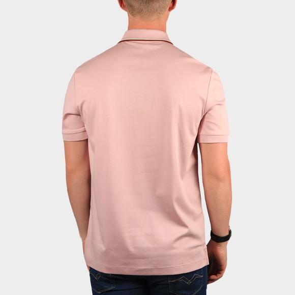 BOSS Mens Pink Formal Parlay 104 Tipped Polo Shirt main image
