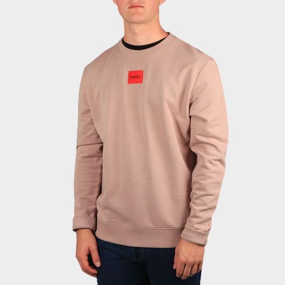 HUGO Mens Pink Diragol212 Crew Sweatshirt