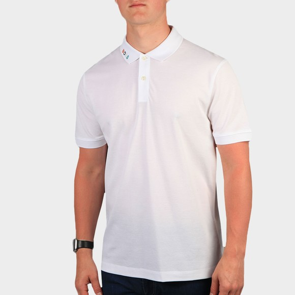 BOSS Mens White Formal Parlay 125 Polo Shirt