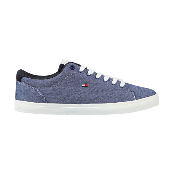 Tommy Hilfiger Mens Blue Chambry Vulcanised Trainer