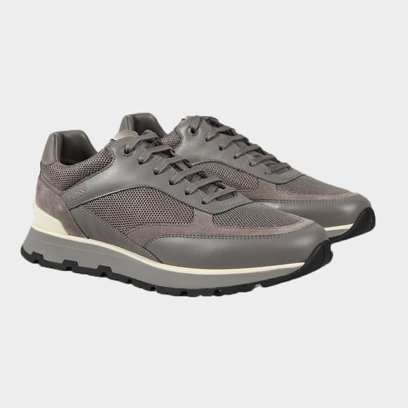 BOSS Mens Grey Arigon Runner Trainer