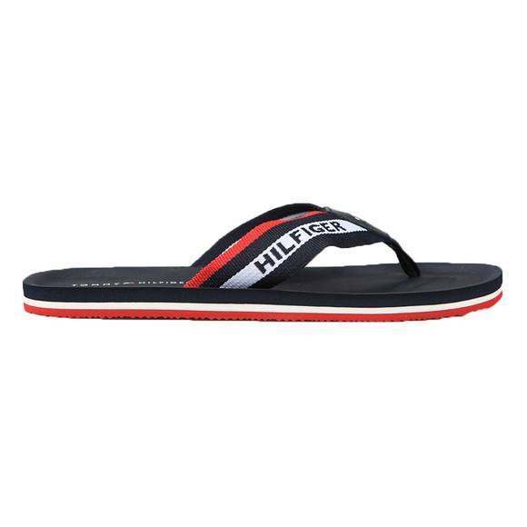 Tommy Hilfiger Mens Blue Sporty Comfort Beach Flip Flop