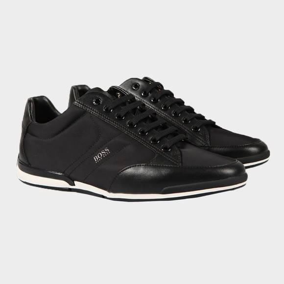 BOSS Mens Black Saturn Lowp Nyst Trainer